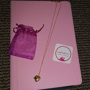 New pink package Nadine West heart locket necklace